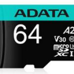 ADATA TECHNO AUSDX64GUI3V30SA2-RA1 64GB MICRO SDXC UHS-I U3 V30S A2 100MB/S -75 MB/S