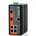 CTC UNION IGS-402SM-4PHE24 SWITCH INDUSTRIALE GIGA MANAGED CTC 4 PORTE POE