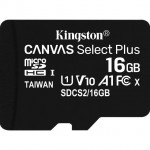 KINGSTON SDCS2/16GB 16GB MICROSD CANVAS SELECT PLUS 100R A1 C10 + ADP