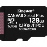 KINGSTON SDCS2/128GB 128GB MICSDXC CANVAS SELECT PLUS 100R A1 C10 + ADP