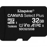 KINGSTON SDCS2/32GB 32GB MICSDHC CANVAS SELECT PLUS 100R A1 C10 + ADP