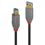 LINDY LINDY36744 CAVO USB 3.0 TIPO A/B ANTHRA LINE, 5M