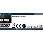KINGSTON SA2000M8/500G 500GB A2000 SSD M.2 2280 NVME XTS-AES A 256-BIT