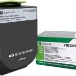 LEXMARK 71B20K0 TONER CS/CX3/4/517 RETURN BLACK (3K )