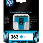 PRODUTTORI V C8771EE#ABE HP 363 EU CYAN INK CARTRIDGE