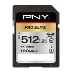 NVIDIA BY PN P-SD512U3100PRO-GE 512GB PNY SD PRO ELITE CLASS10 UHS-I U3 100-90MB/S