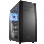 SHARKOON M25-W BLACK CASE 2XU3, WINDOW, 1X120 LED, 2X120