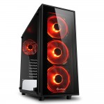 SHARKOON TG4 RED 2X U3, TEMPERED GLASS, 4X 120 LED