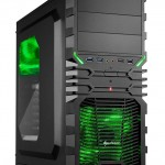 SHARKOON VG4-W GREEN CASE 2XU2, 2XU3, WINDOW, 2XLED