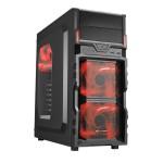 SHARKOON VG5-W RED CASE 2XU3, WINDOW, 3XLED