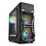 SHARKOON VG7-W RGB 2X U3, WINDOW, 3X 120 ARGB LED FAN, RGB CONTROLLER