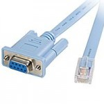 CISCO CAB-CONSOLE-RJ45= CONSOLE CABLE 6FT WITH RJ45 AND DB9F