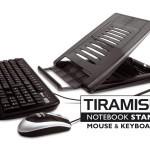 HAMLET XTMS100KM TIRAMISU NOTEBOOK STAND + DI TASTIERA E MOUSE