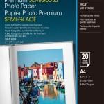 EPSON C13S041332 CARTA FOTOGRAFICA SEMILUCIDA PREMIUM A4 20FG
