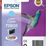 EPSON C13T08054011 CARTUCCIA CLARIA PHOTO T0805 COLIBR  CIANO CHIARO