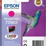 CARTUCCIA CLARIA PHOTO T0803 COLIBR  74ML MAGENTA