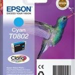 EPSON C13T08024011 CARTUCCIA CLARIA PHOTO T0802 COLIBR   74 ML CIANO
