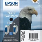 EPSON C13T00740210 TWINPACK T007 NERO STYLUS PHOTO