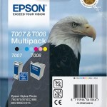 EPSON C13T00740310 TWINPACK T007 2 CARTUCCE NERO + COLORE