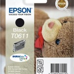 EPSON C13T06114010 CARTUCCIA ULTRA T0611 ORSETTO 80 ML NERO