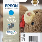 EPSON C13T06124010 CARTUCCIA ULTRA T0612 ORSETTO 80 ML CIANO
