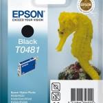 EPSON C13T04814010 CARTUCCIA T0481 CAVALLUCCIO MARINO  130 ML NERO