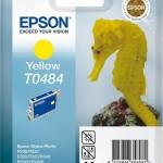 EPSON C13T04844010 CARTUCCIA T0484 CAVALLUCCIO MARINO  130 ML GIALLO