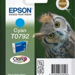 EPSON C13T07924010 CARTUCCIA CLARIA  PHOTO T0792 GUFO 111 ML CIANO