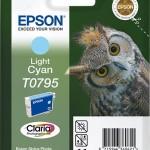 EPSON C13T07954010 CARTUCCIA CLARIAPHOTO T0795GUFO 111ML CIANO CHIARO
