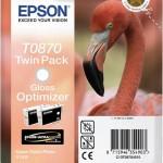 EPSON C13T08704010 TWINPACK 2 CARTUCCE HI-GLOSS 2 T0870 FENICOTTERO