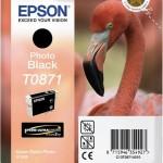 EPSON C13T08714010 CARTUCCIA HI-GLOSS2 T0871 FENICOTTERO NERO FOTO