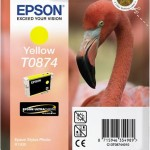 EPSON C13T08744010 CARTUCCIA  HI-GLOSS2 T0874 FENICOTTERO GIALLO