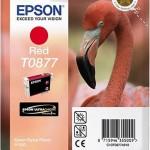 EPSON C13T08774010 CARTUCCIA HI-GLOSS2 T0877 FENICOTTERO 114 ML ROSSO