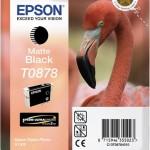 EPSON C13T08784010 CARTUCCIA HI-GLOSS2 T0878 FENICOTTERO NERO MATTE