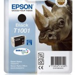 EPSON C13T10014010 CARTUCCIA ULTRA T1001 RINOCERONTE  259 ML NERO