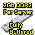 Memoria RAM per server 2GB DDR2 DIMM 667 MHZ 240 Pin PC2-5300 CL4 SDRAM Fully Buffered IBM HP Dell