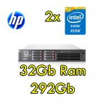 Server HP ProLiant DL380 G7 (2) Xeon E5606 2.13GHz 32Gb RAM  292Gb (2) PSU Smart Array P410 512Mb