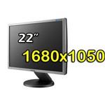 Monitor 22 Pollici Samsung SyncMaster 2243FW LCD BLACK SILVER VGA DVI Wide