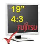 PC Monitor LCD 19 Pollici Fujitsu ScenicView P19-5P ECO VGA-DVI TCO-03 PIVOT Multimediale 4:3