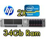 Server HP ProLiant DL380 G5 (2) Xeon Quad E5405 2.0GHz 12Mb 16b Ram 146GB SAS (2) PSU Smart Array P400 512MB