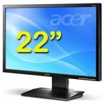 PC Monitor LCD 22 Pollici Acer B223W Wide 1680 x 1050 VGA DVI