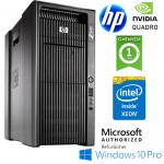 Workstation HP Z800 Xeon E5630 2.53GHz 12Gb RAM 1Tb DVD-RW NVIDIA QUADRO FX-4800 1.5Gb Windows 10 Professional