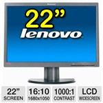 Monitor LCD 22 Pollici Lenovo ThinkVision L2251p Wide VGA Black