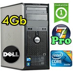 PC Dell Optiplex 780 Core 2 Duo E8400 3.0Ghz 4Gb Ram 160Gb DVDRW Windows 7 Professional Tower