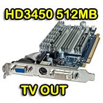 Scheda video ATI Radeon HD3450 512MB DDR2 PCI-e VGA TV-Out DVI Display 188-0CE40-005SA