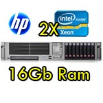 Server HP ProLiant DL380 G5 (2) Xeon Quad X5450 3.0GHz 12Mb 16b Ram 292GB SAS (2) PSU Smart Array P400 512MB