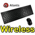 Kit Tastiera e Mouse Cordless ATLANTIS P013-TK509G+M NERO con mouse OTTICO - EAN 8026974016085