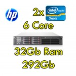 Server HP ProLiant DL380 G7 (2) Xeon HexaCore X5660 2.93GHz 32Gb RAM 292Gb (2) PSU Smart Array P410 512Mb
