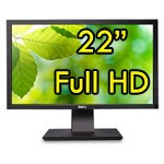 Monitor 22 Pollici DELL Professional P2211H 1920x1080 VGA DVI USB Full HD PIVOT Black