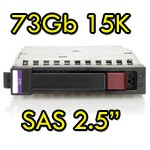 Hard Disk per Server HP SAS 2.5' 73Gb 15K Hot Swap per Proliant DL ML BL G5 G6 G7
